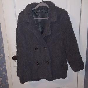 Adorable fuzzy fleece jacket/cardigan